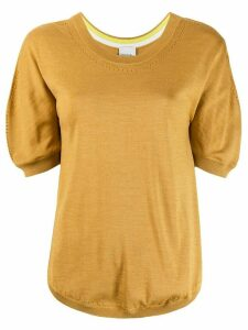 Paul Smith short sleeved knitted top - Yellow