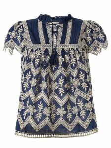 Sea Broderie Anglaise cotton blouse - Blue