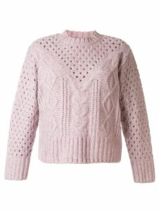 Sea cable-knit relaxed-fit jumper - PINK