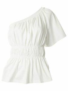Goen.J one-shoulder ruched top - White