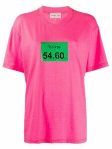 Natasha Zinko Georgin oversized T-shirt - PINK
