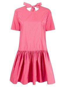 Valentino bow detail flared dress - PINK