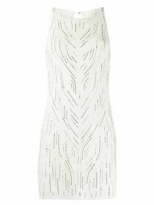 Ermanno Scervino embellished knitted tunic - White
