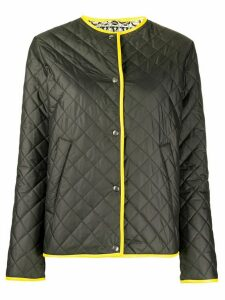 Salvatore Ferragamo contrast-trimmed quilted jacket - Black