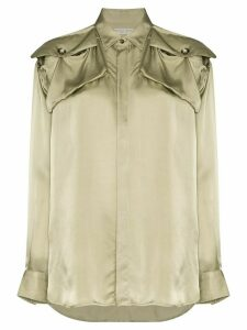 Bottega Veneta shoulder patch shirt - Green