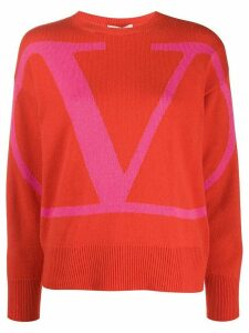 Valentino VLOGO jumper - ORANGE