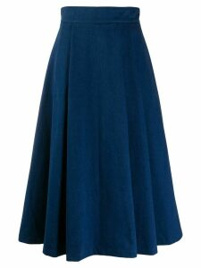Société Anonyme high-waisted pleated skirt - Blue