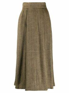 Société Anonyme high-waisted herringbone skirt - NEUTRALS