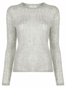 Gabriela Hearst distressed effect sheer jumper - Grey