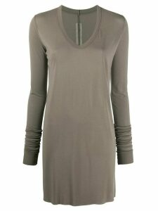 Rick Owens long sleeve tunic top - Grey