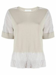 Fabiana Filippi knitted panelled top - NEUTRALS