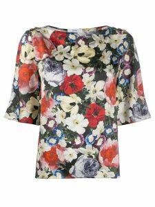 Erdem floral print blouse - Black