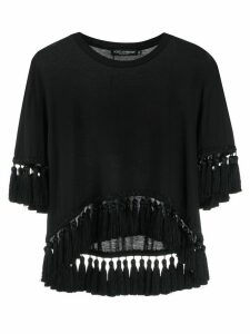 Dolce & Gabbana tassel trim T-shirt - Black