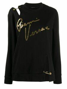 Versace deconstructed Gianni Versace print sweatshirt - Black