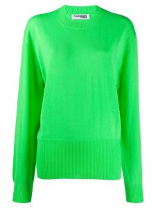 Courrèges relaxed-fit crew-neck jumper - Green
