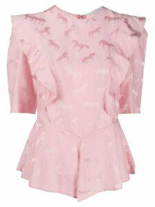 Stella McCartney horse jacquard blouse - PINK