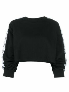 Chiara Ferragni eyelash trim cropped jumper - Black