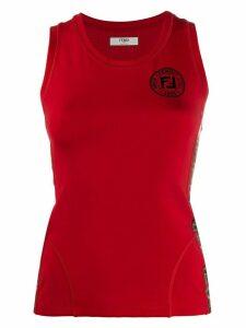 Fendi FF logo vest top - Red