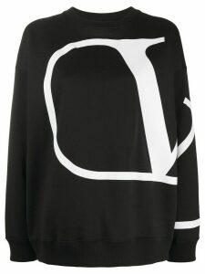 Valentino VLOGO print oversized sweatshirt - Black