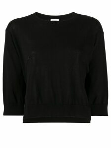 P.A.R.O.S.H. cropped knit jumper - Black