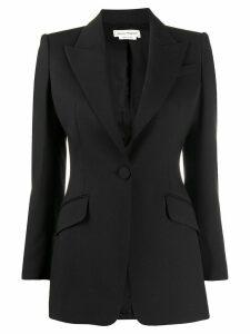 Alexander McQueen single-breasted tailored blazer - Black