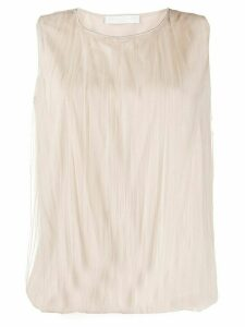 Fabiana Filippi pleated tulle top - NEUTRALS