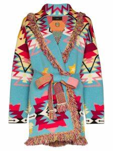 Alanui Cali Star patterned cashmere cardigan - Blue