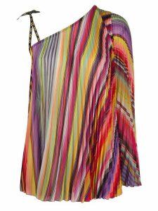 Etro pleated striped top - PURPLE