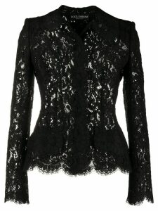 Dolce & Gabbana fitted lace shirt - Black