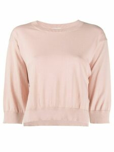 P.A.R.O.S.H. cropped knit jumper - PINK
