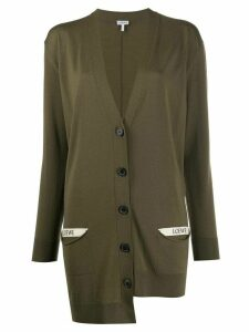 Loewe oversized asymmetric cardigan - Green