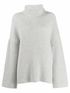 Nanushka Raw chunky knit turtleneck jumper - Grey