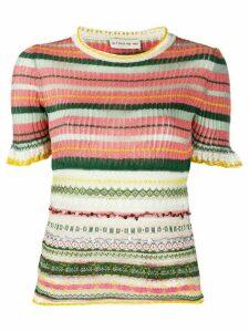 Etro knitted metallic short sleeve top - PINK