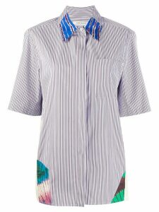Boon The Shop striped patchwork shirt - White