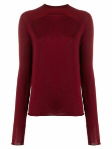Boon The Shop fine knit mock neck jumper - Red
