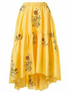 Romance Was Born Queens Hamlet midi skirt - Yellow