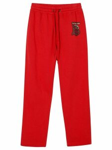 Burberry monogram track pants - Red