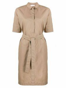 Fabiana Filippi belted shirt midi dress - Brown