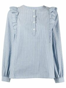 A.P.C. ruffled shoulder blouse - Blue
