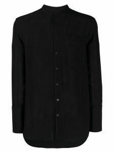 Neil Barrett mandarin collar shirt - Black