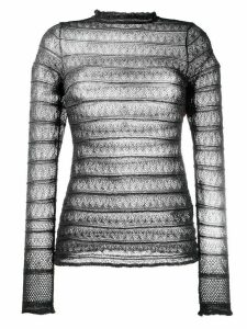 M Missoni slim-fit lace top - Black