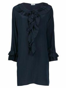 P.A.R.O.S.H. ruffle trim dress - Blue