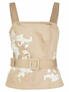 Alexis Tienna embroidered top - NEUTRALS