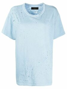 AMIRI Shotgun distressed loose-fit T-shirt - Blue