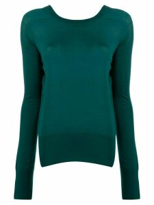 Boon The Shop fine knit round neck jumper - Green