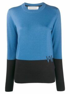Victoria Victoria Beckham colour-block wool jumper - Blue