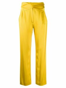 Blazé Milano lapel buttoned waistband trousers - Yellow