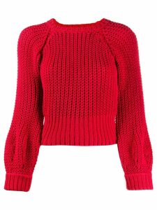 Maison Flaneur chunky knit jumper - Red