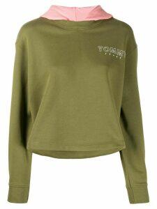 Tommy Jeans logo printed hoodie - Green