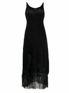 Pinko knitted detail midi dress - Black